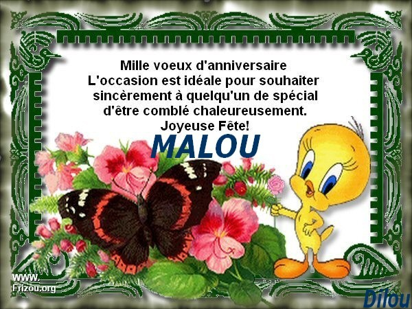 Joyeux Anniversaire Chere Malou