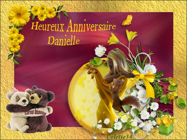 Bon Anniversaire Danielle Merci A Colette 34 Pour La Crea