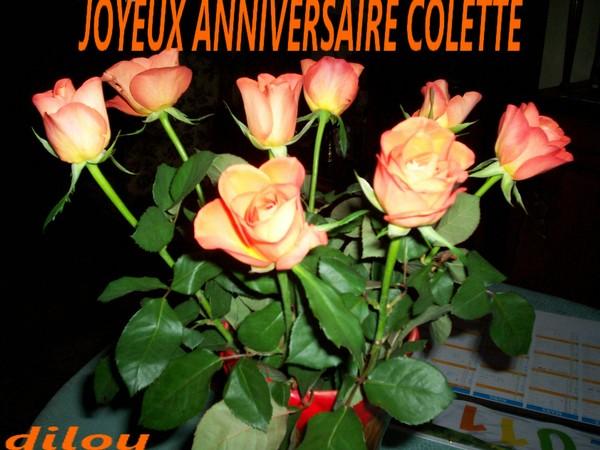 JOYEUX ANNIVERSAIRE COLETTE