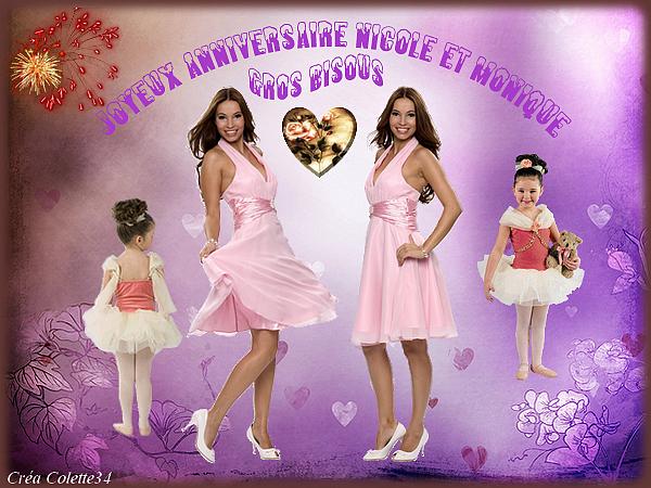 Joyeux Anniversaire Monique Et Nicole Merci Colette34