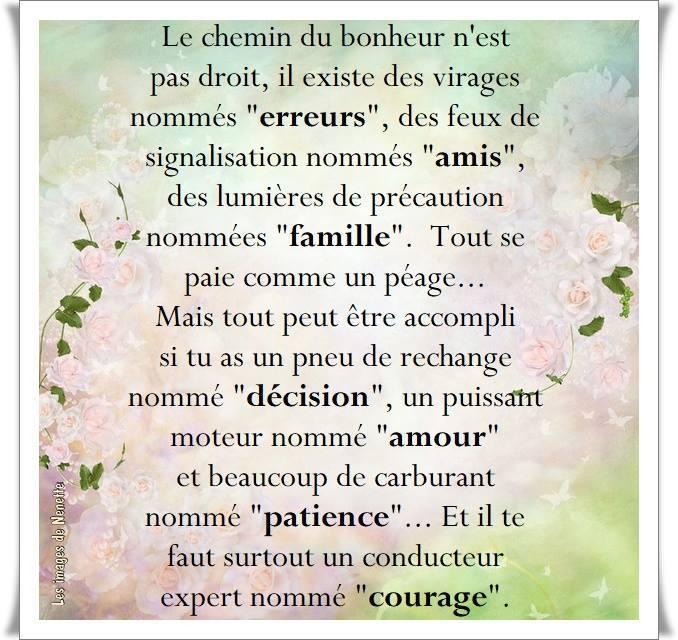Merci A Mon Amie Nenette Pour Ce Beau Texte Du Bonheur